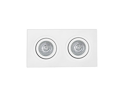 Radon Recessed adjustable Square white 2xGU10