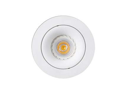 Argon Recessed adjustable Round white gu10