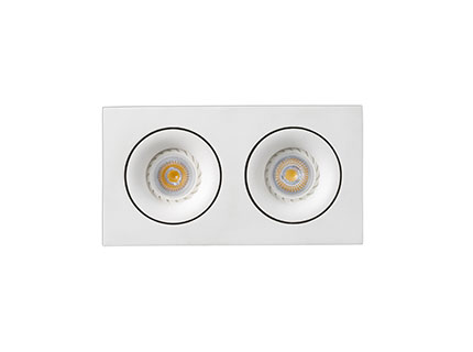 Argon Recessed adjustable Square white 2xGU10