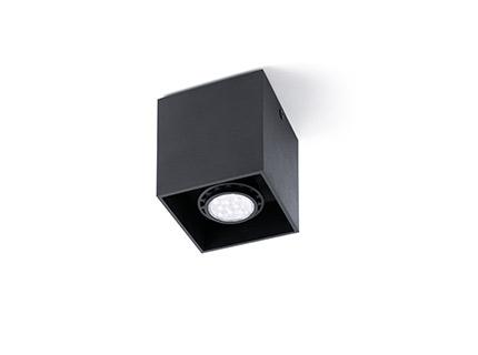 Tecto deckeleuchte Schwarz 1 x GU10 50W