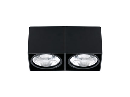 Tecto deckeleuchte Schwarz 2 x AR111 100W