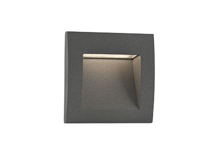 Sedna-3 Recessed LED 3w Grey Dark
