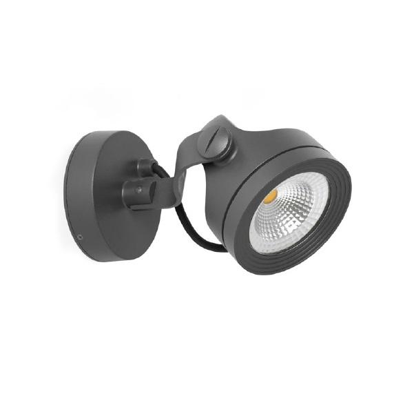 Alfa proyector Exterior gris Oscuro LED 15W 3000K