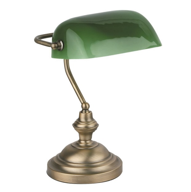 Banker Table Lamp E27 60W - Bronze