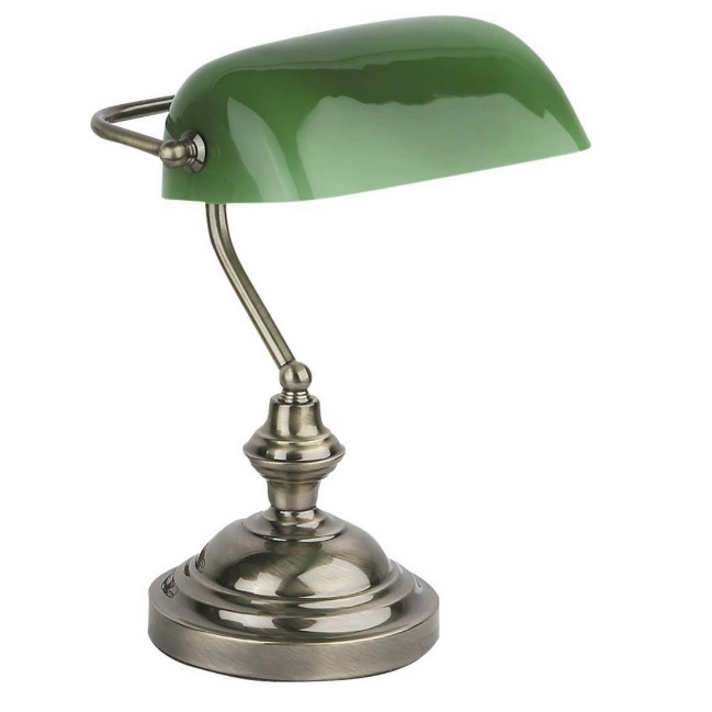 Banker Table Lamp E27 60W - Gold aged