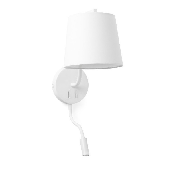Berni Wall Lamp E27 20W with lector LED 3W White