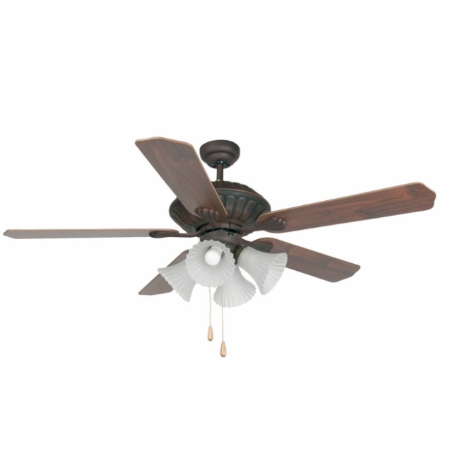 Corso Fan with light 5 blades ø132cm Brown Oxide