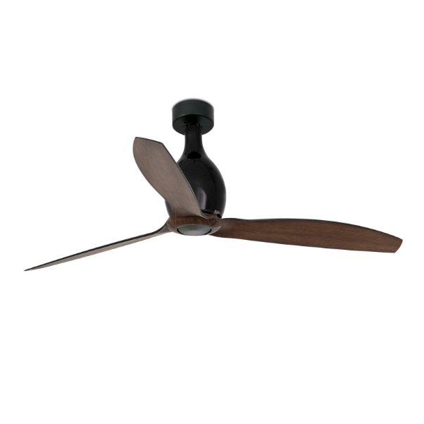 Eterfan Mini Fan ø128cm black matt blades Wood