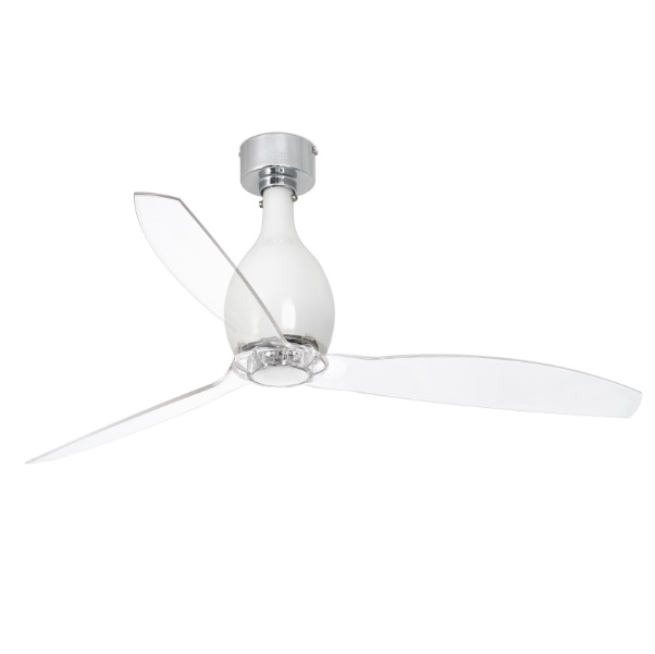 Eterfan Mini Fan ø128cm white bright blades Transparent
