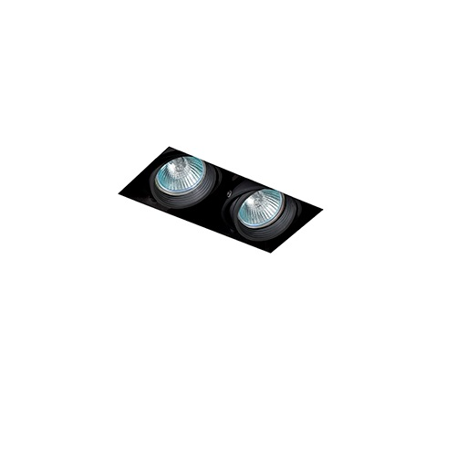 Falcon Recessed adjustable Black without Framework 2xGU10 50W