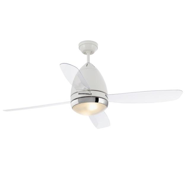 Faretto Ventilateur avec lumière E27 3 lames blanc