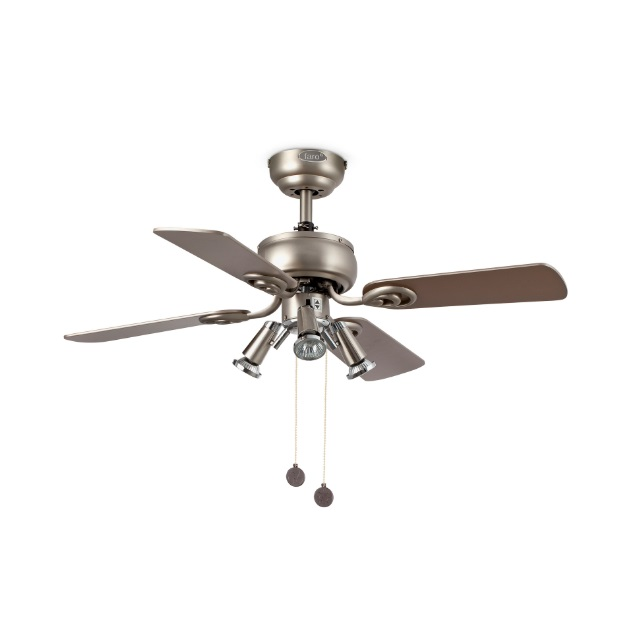 Galápago Fan with light 4 blades ø91cm 3xGU10 50W Gray cava / maple