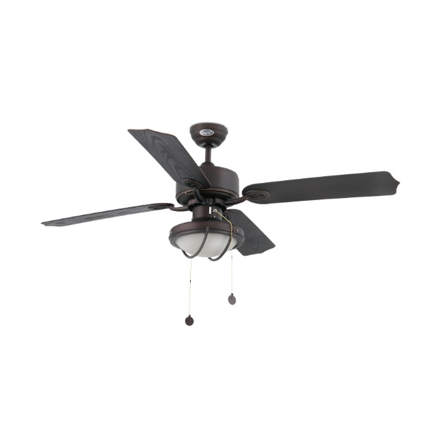 Hierro Fan with light 4 blades ø132cm 2xE27 60W Brown