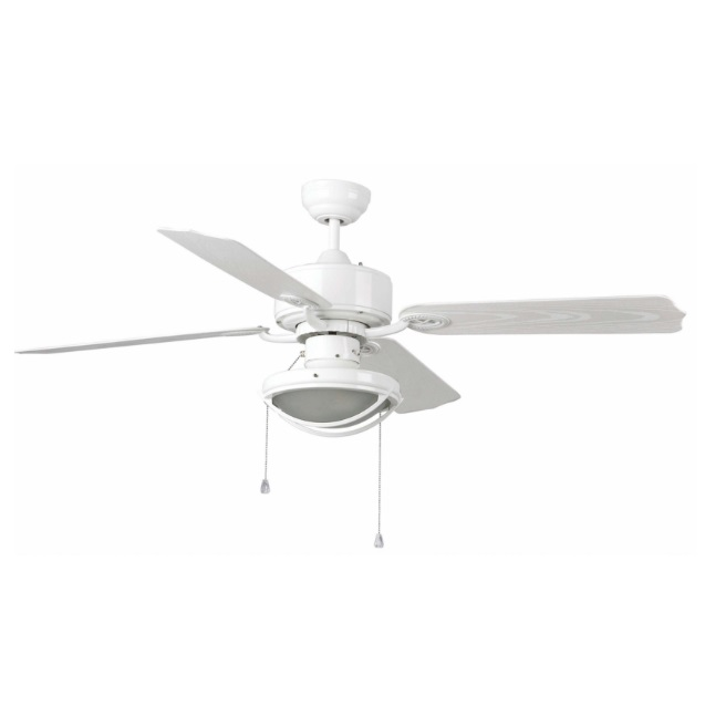 Hierro Fan with light 4 blades Outdoor ø132cm 2xE27 60W white