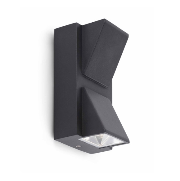 Kamal 2 Wall Lamp Outdoor LED 2W 3000K - Grey Oscuro