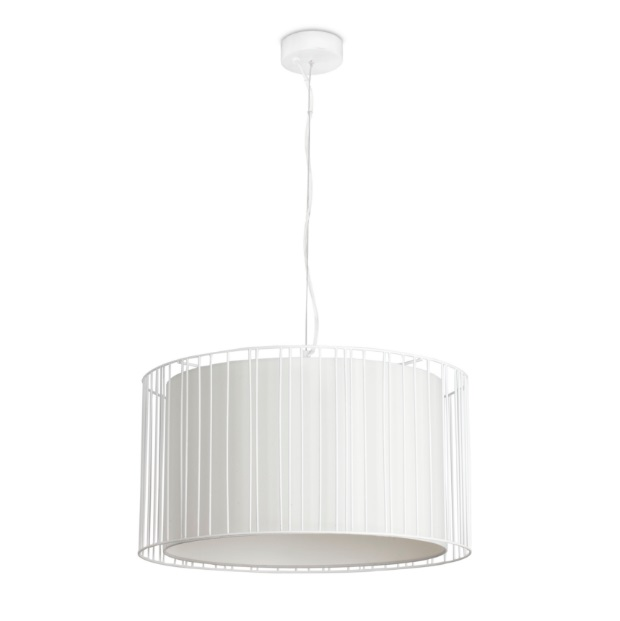 Linda Suspension 1L E27 - blanc
