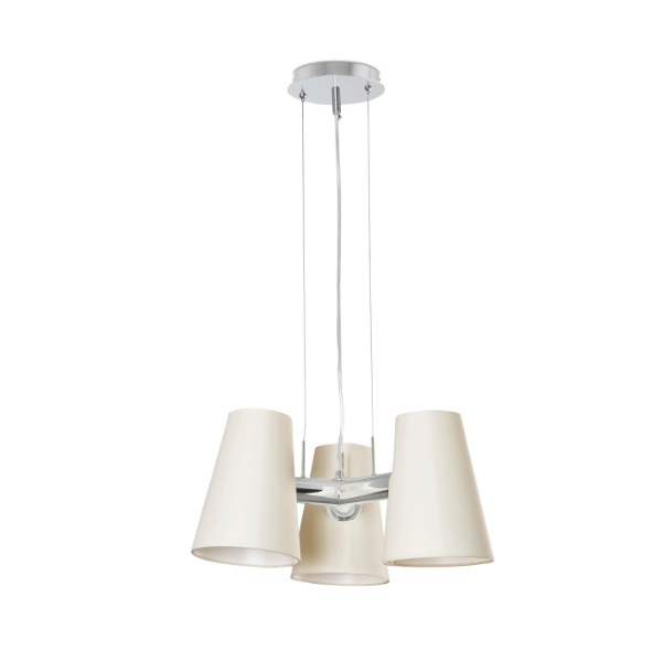 Lupe Floor Lamp Chrome 3 X E27 20W