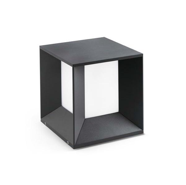 Mila Sobremuro Exterior gris Oscuro LED 18W 4000K