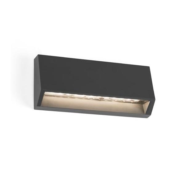 Must 2 Wandleuchte im Freien LED 4W 3000K Grau Dunkel
