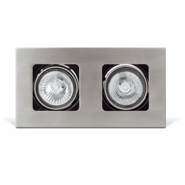 Neutrón Lamp Recessed 2L GU10 50W - Nickel mate