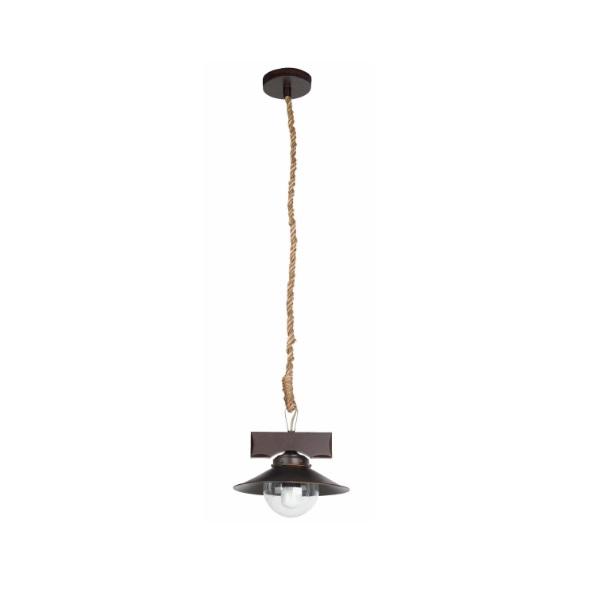 Nudos Pendant Lamp 1xE27 max 60W - Brown Oxido