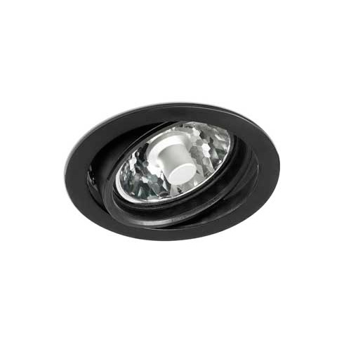 Optic Recessed Black 1xC dimmable R111 20/35/70w