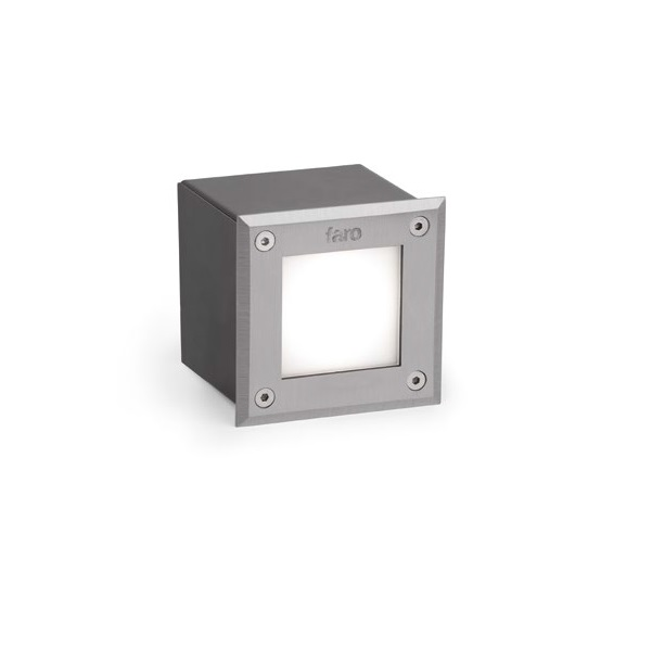 LED-18 Recessed LED 3W Square 3000K SS316 níquel mate