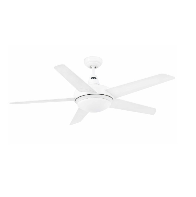 Ovni Fan with light 5 blades ø132cm white