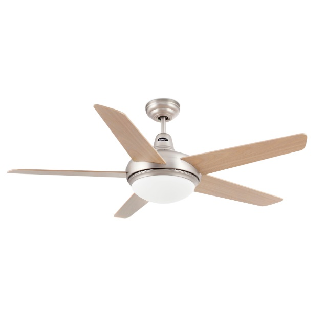 Ovni Fan with light 5 blades ø132cm níquel Matt