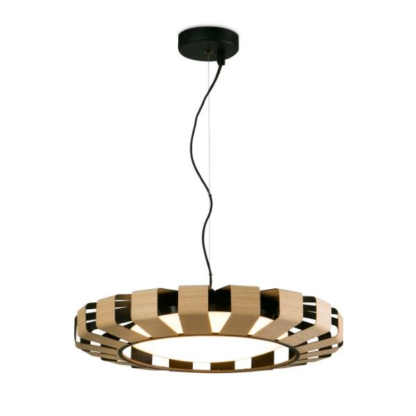 Pauline Pendant Lamp LED 24W Wood 2700K dimable