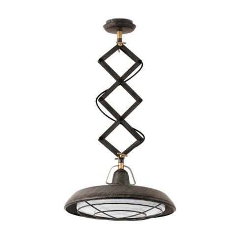 Plec Lámpara Colgante extensible marrón óxido LED 15W