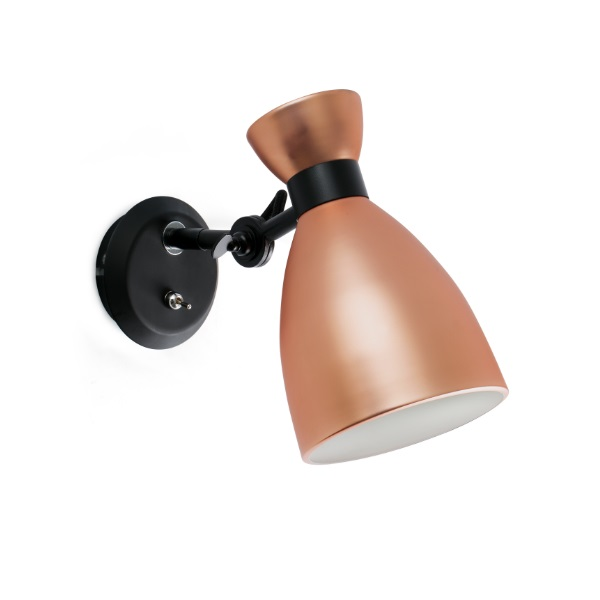 Retro Wall Lamp Copper E14 MAX 20W