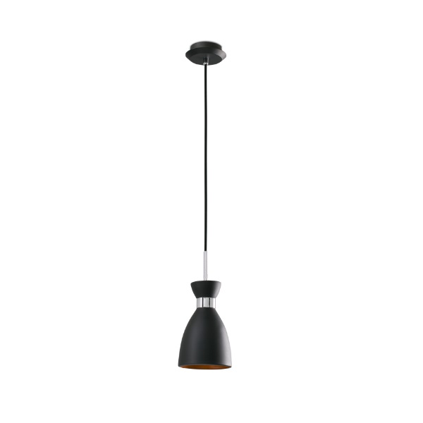 Retro Pendant Lamp Black/oro 1xE14 20W