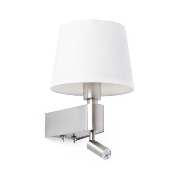 Room Wall Lamp E27 20W with lector LED 2700k - white