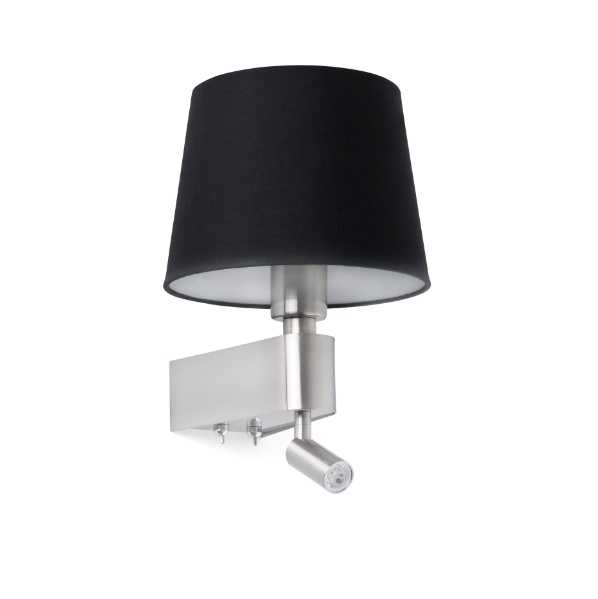 Room Wall Lamp E27 20W with lector LED 3W 3000K - Black