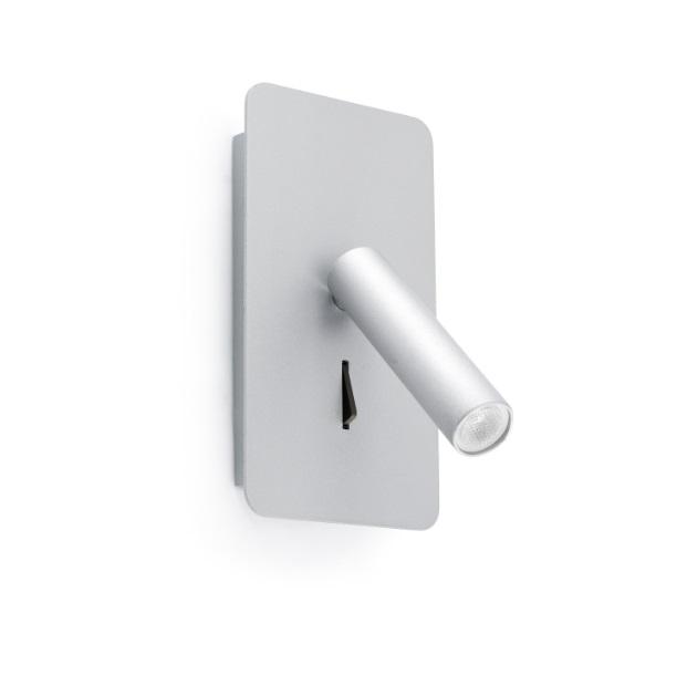 Suau Aplique con lector LED 3W Gris Plata