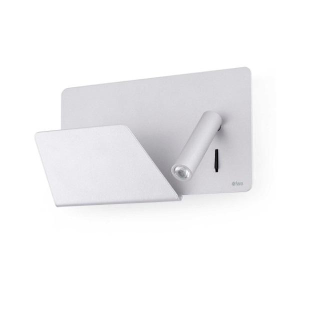 Suau Aplique izquierda USB LED 3W Gris Plata