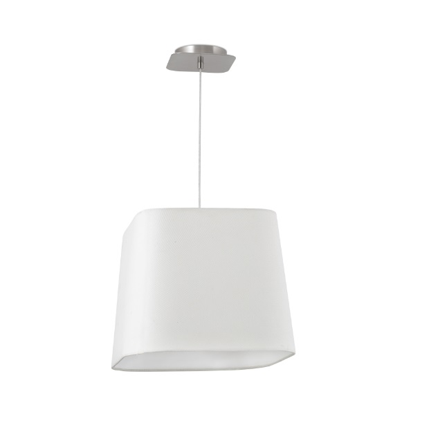 Sweet Pendant Lamp 1 E27 20w - Nickel Matt lampshade white