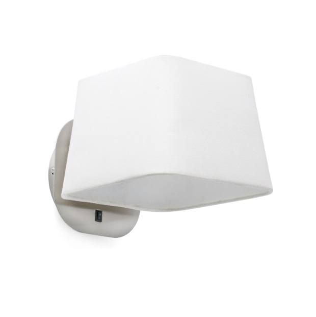 Sweet Wall Lamp E27 15w - Nickel Matt lampshade white