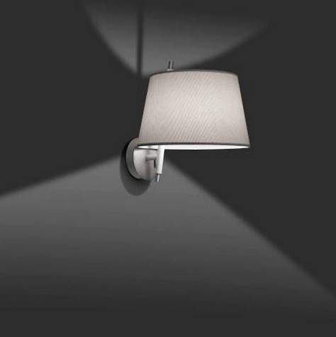 Tango Wall Lamp níquel Satin lampshade Grey