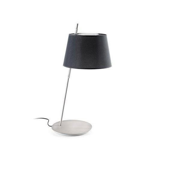 Tango Table Lamp n­quel Satin black lampshade