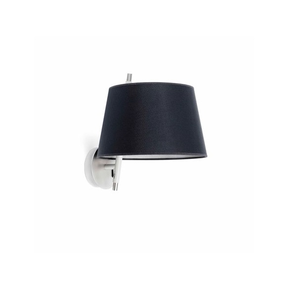 Tango Wall Lamp níquel Satin black lampshade