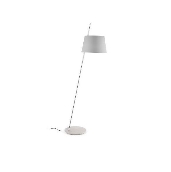 Tango Floor Lamp níquel Satin lampshade Grey