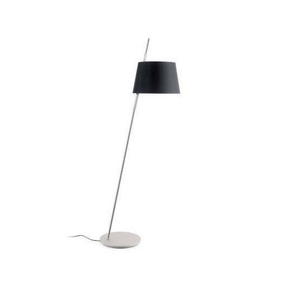 Tango Floor Lamp níquel Satin black lampshade