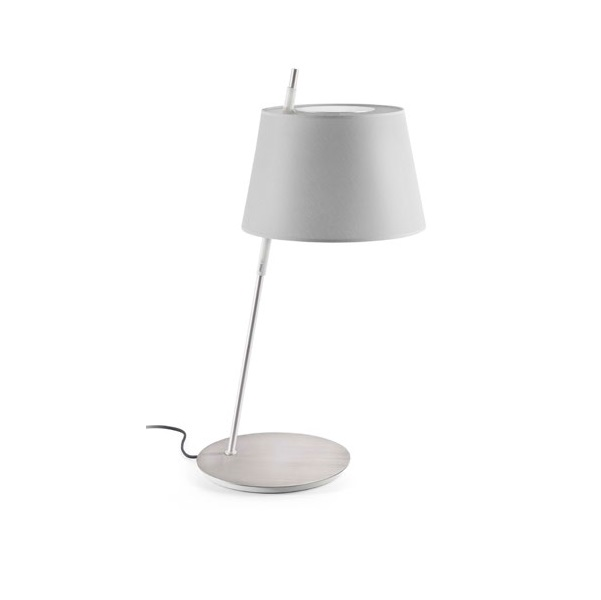 Tango Table Lamp níquel Satin lampshade Grey