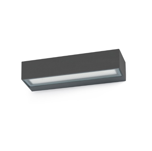 Toluca Wall Lamp Outdoor Grey Dark LED 16W 3000K