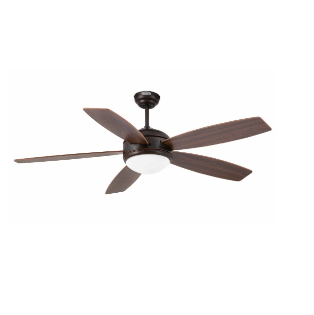 Vanu Fan with light 5 blades ø132cm Brown