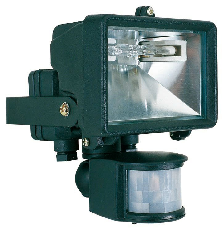 Mikro pir proyector Exterior negro Sensor Movimiento 1L 150w