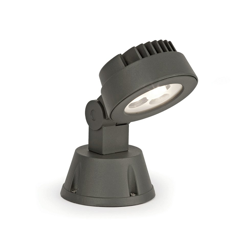 Garda projector/stake Outdoor Grey Dark LED light cold 3w