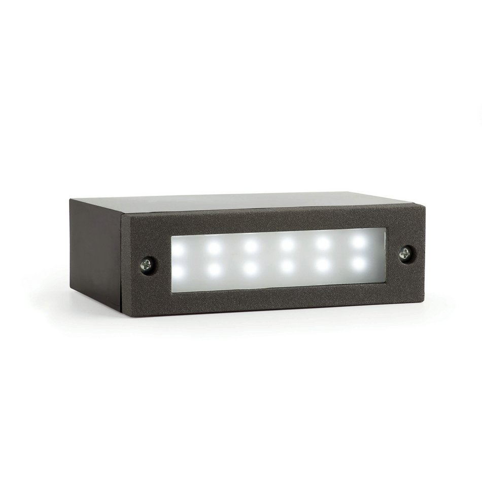 Indi 1 Recessed Outdoor Grey Dark LED 1w